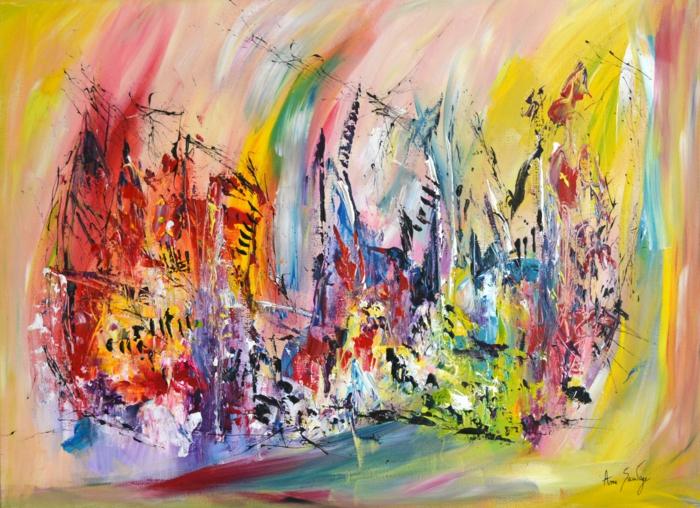 au coeur de larc en ciel ame sauvage artiste peintre contemporain