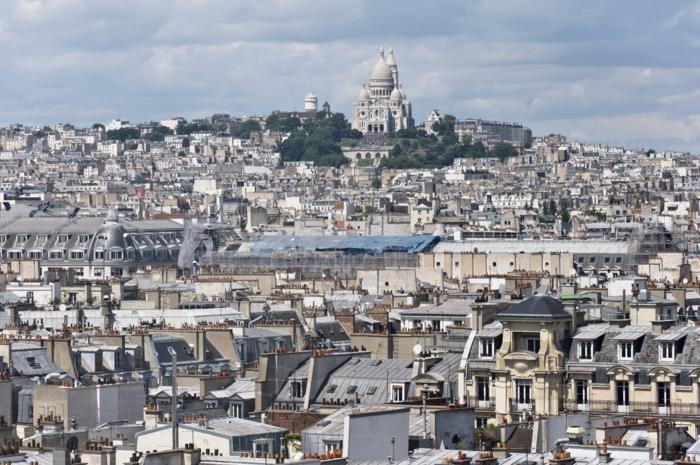 montmartre vu depuis le toit du centre Pompidou