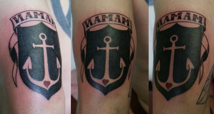 tatouage de type ancre