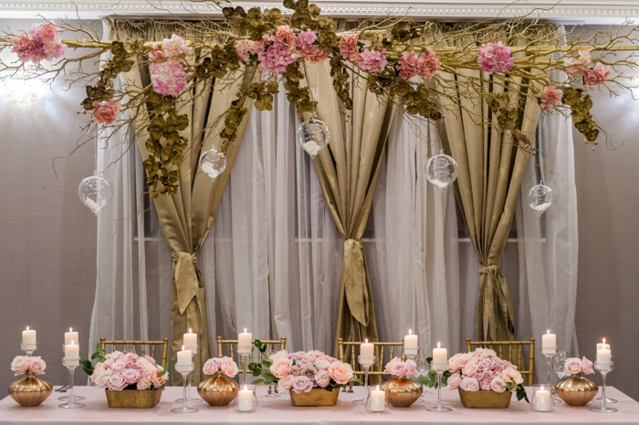 arche fleurie mariage original et pas cher