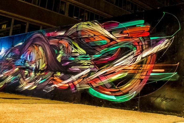 exemple d'art mural moderne