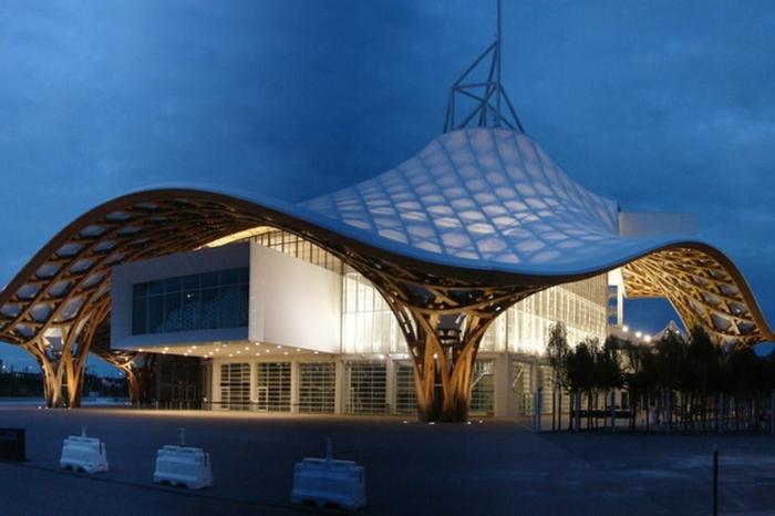 centre pompidou metz le musée pendant la nuit