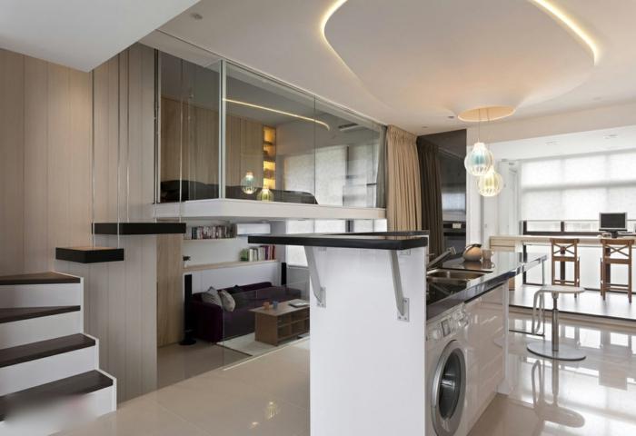 studio luxe à deux niveaux