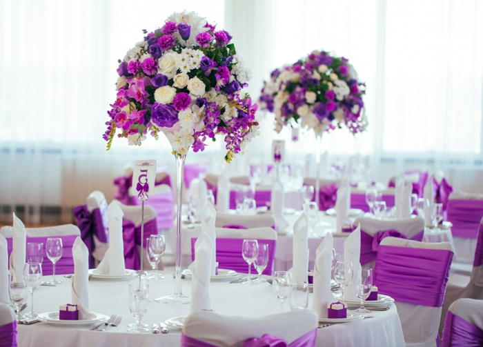 decoration mariage lilas