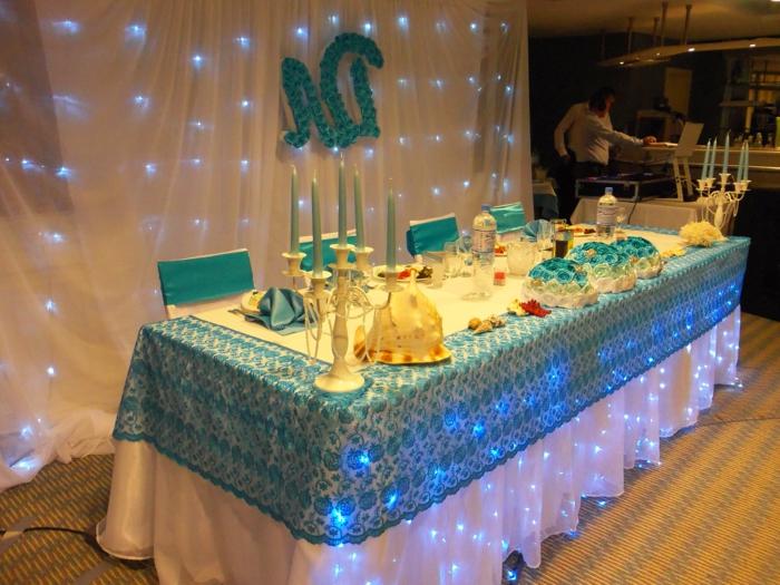 l'accent bleu dans la décoration de mariage
