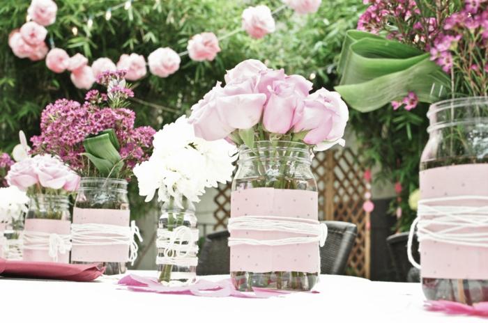 Composition florale mariage-roses-fleurs de printemps