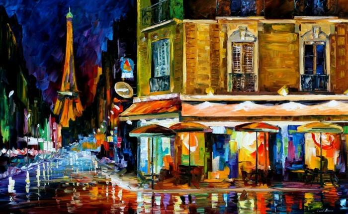 peinture café de paris