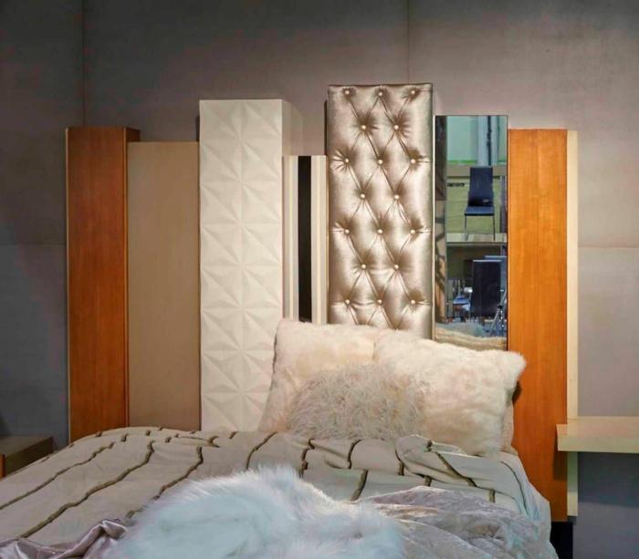 une tête lit originale de différents matériels