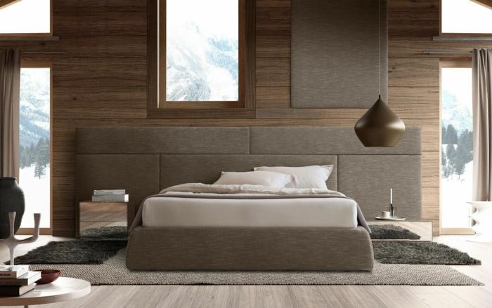 tête de lit tapissée de tissu