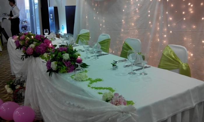 décoration simple mais élégante en vert