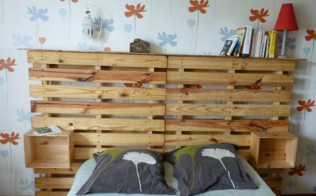 tête de lit en deux palettes