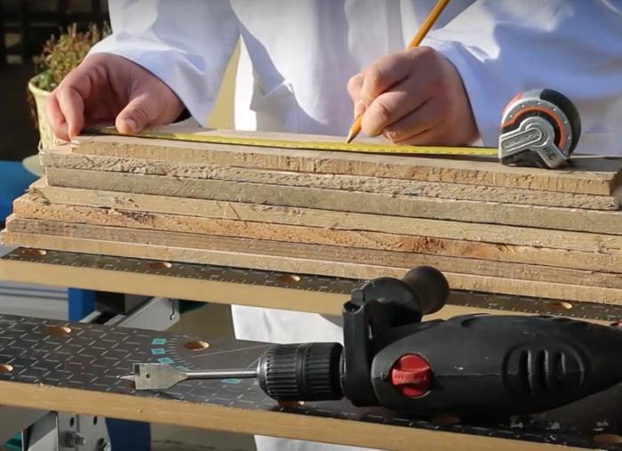mesurer et marquer des planches