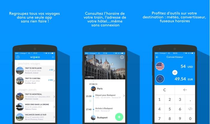 Wipolo appli organisation complète de votre vacances sur mesure