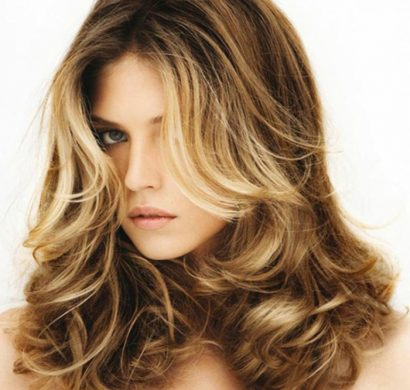 Exemple de beau balayage blond californien