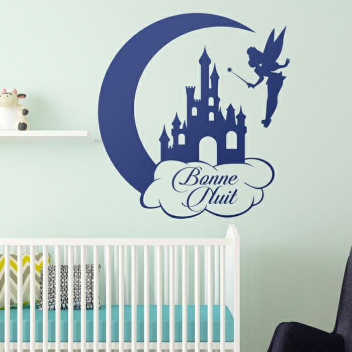 sticker chambre bébé bonne nuit