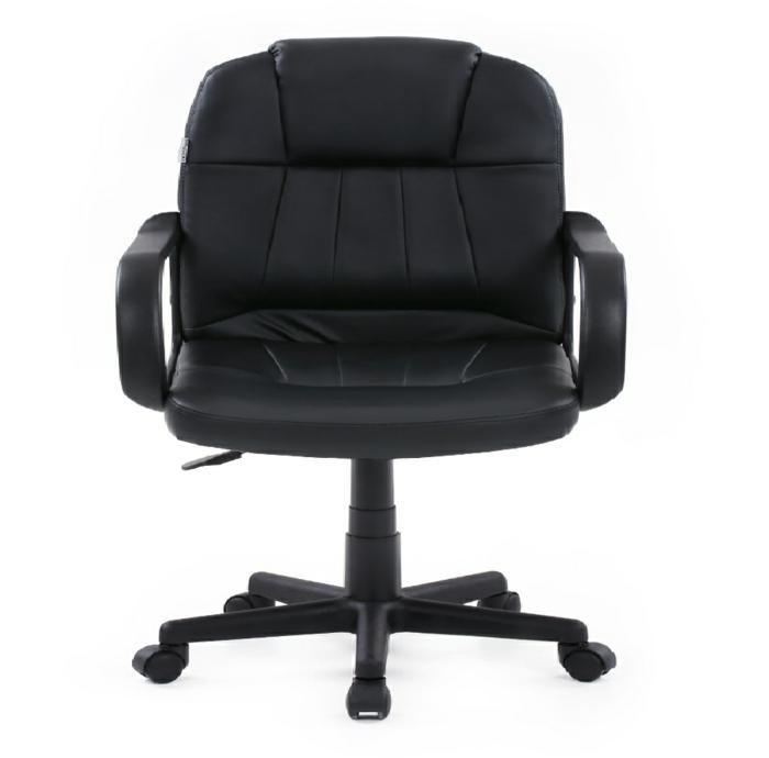chaise de cuir avec des accoudoirs sans d'espace entre le dossier et l'assise