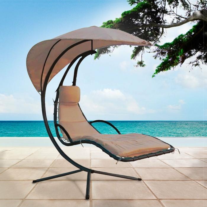 chaise longue suspendue