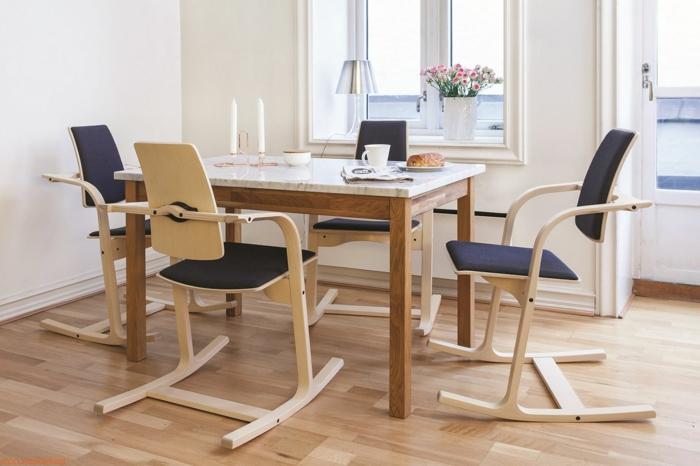 chaises ergo pour la salle à manger