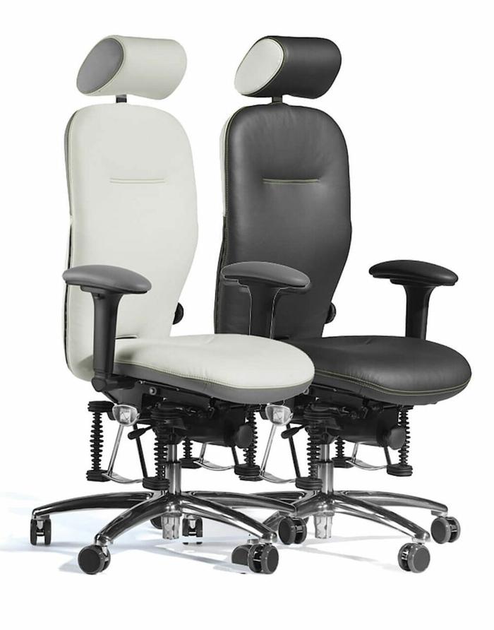 chaise ergonomique de cuir