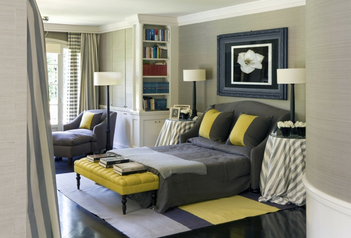 chambre jaune et gris chambre rouge orange jaune with chambre jaune et gris excellent chambre. Black Bedroom Furniture Sets. Home Design Ideas