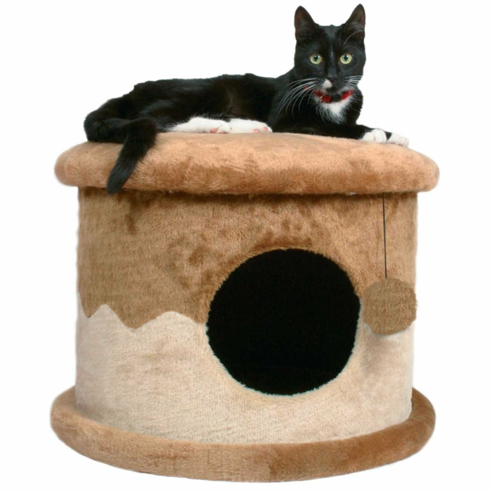 maisonnette de peluche chat