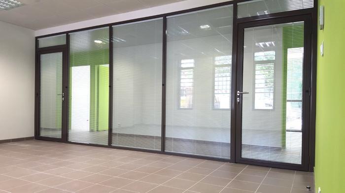 cloison vitrée avec store intégré