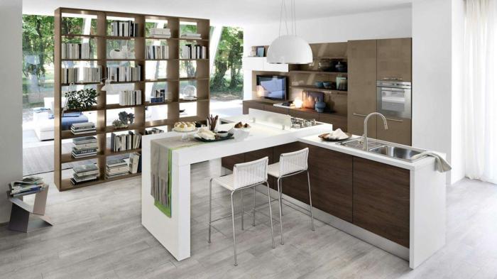 cuisine étagère de livres