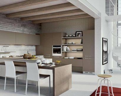 cuisine moderne en gris et brun