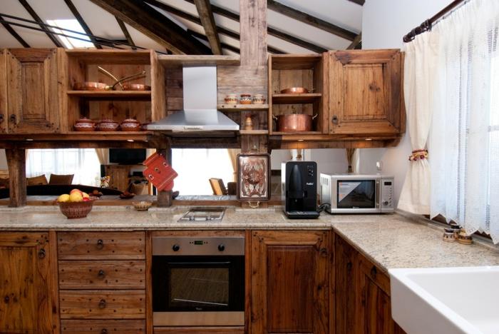 cuisine rustique en bois