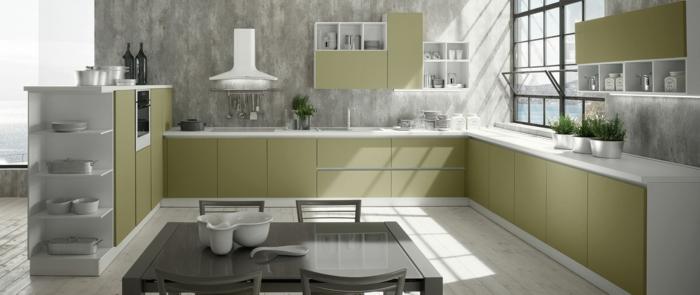 cuisine en vert