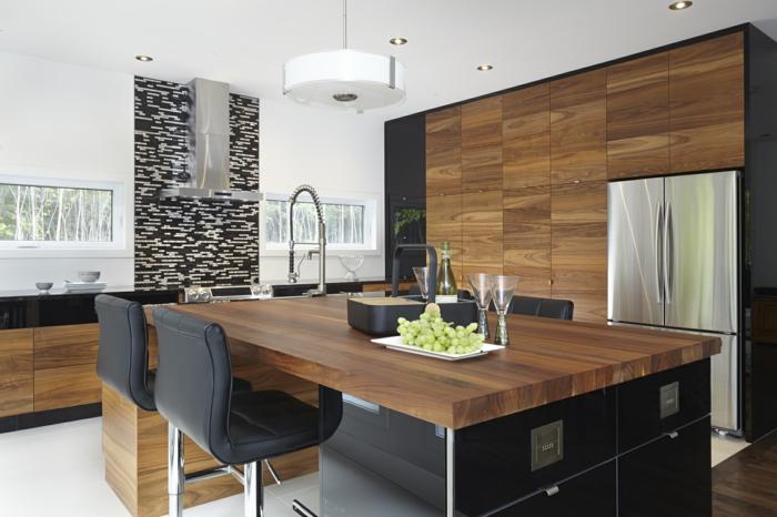 cuisine grandes armoires en bois