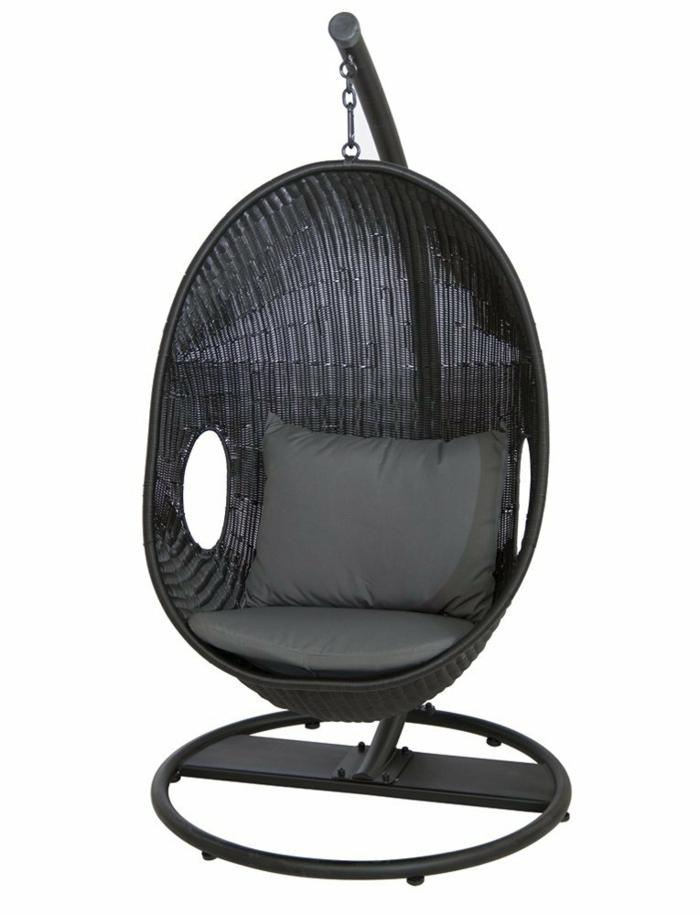 fauteuil suspendu en noir