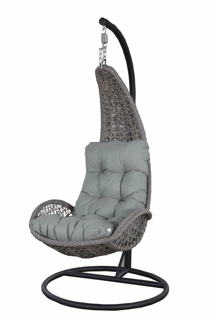 fauteuil gris avec coussin