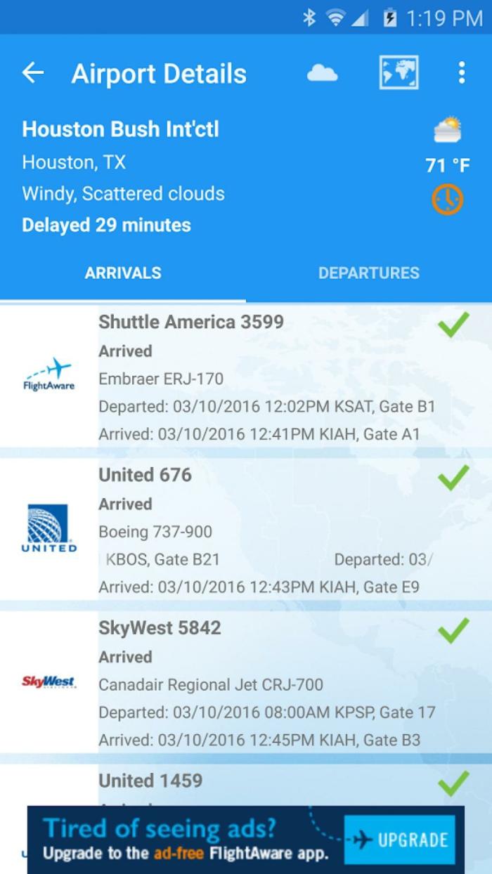 le software flightware vous permet de suivre l'horaire de votre vol