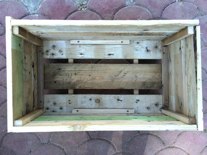 fond de potager en palette de bois