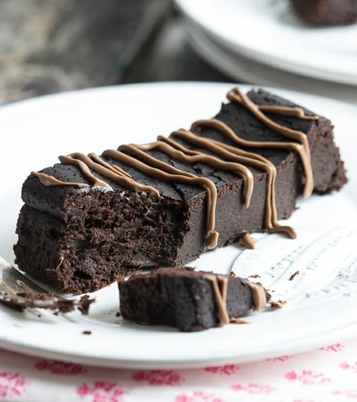 fondant au chocolat préparé sans beurre et sucre