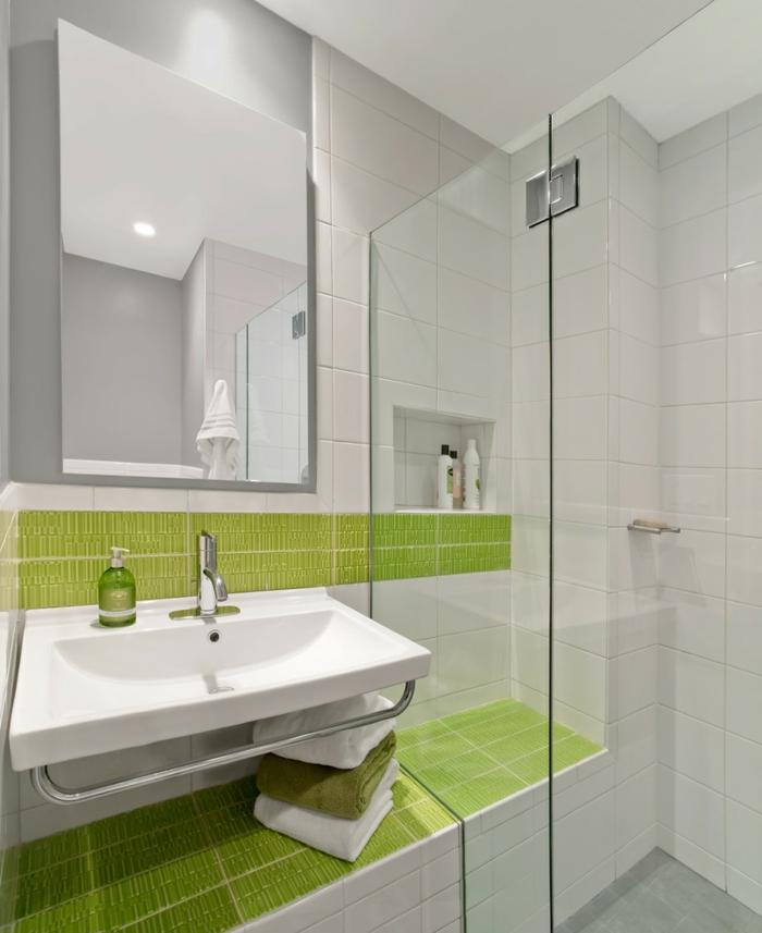 salle de bain couleurs en contraste