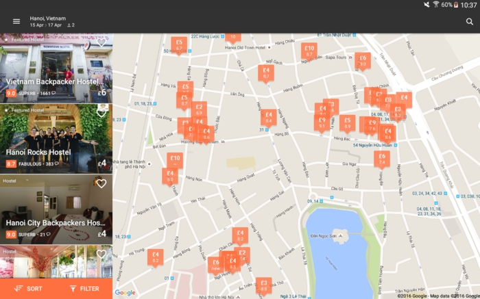 hostelworld appli mobile de voyages privés, trouvez un auberge de jeunesse