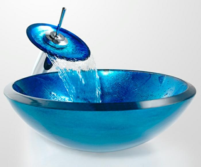lavabo bleu