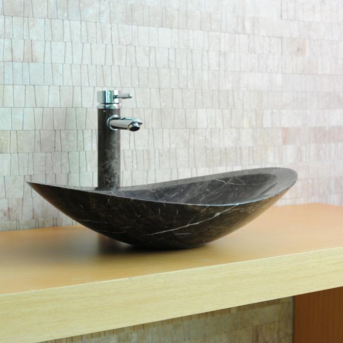 lavabo oval en pierre