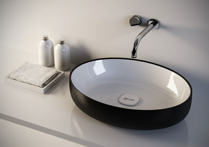 lavabo vasque oval à poser