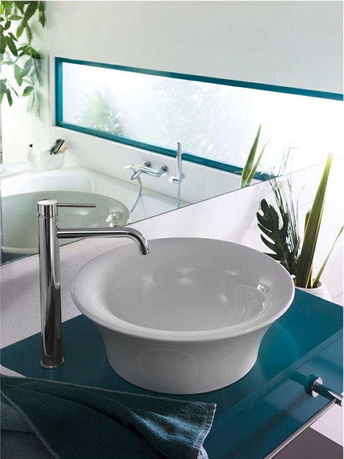 haut lavabo vasque