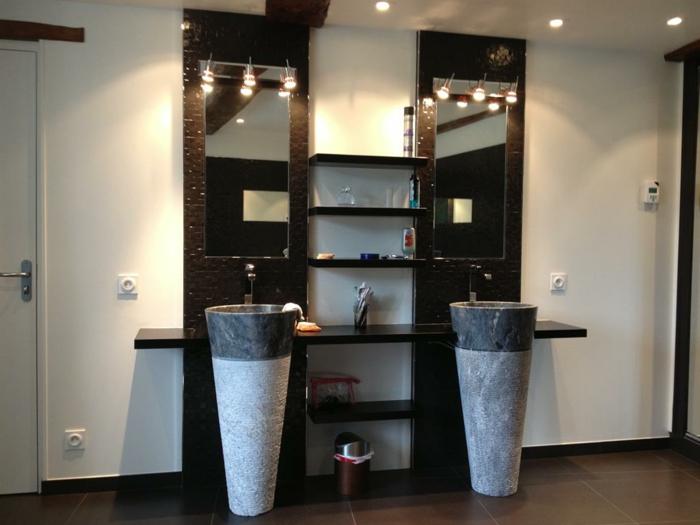 lavabos modernes en pierre colonnes
