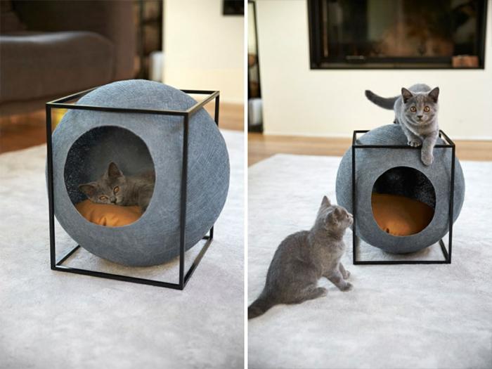 lit à chat rond