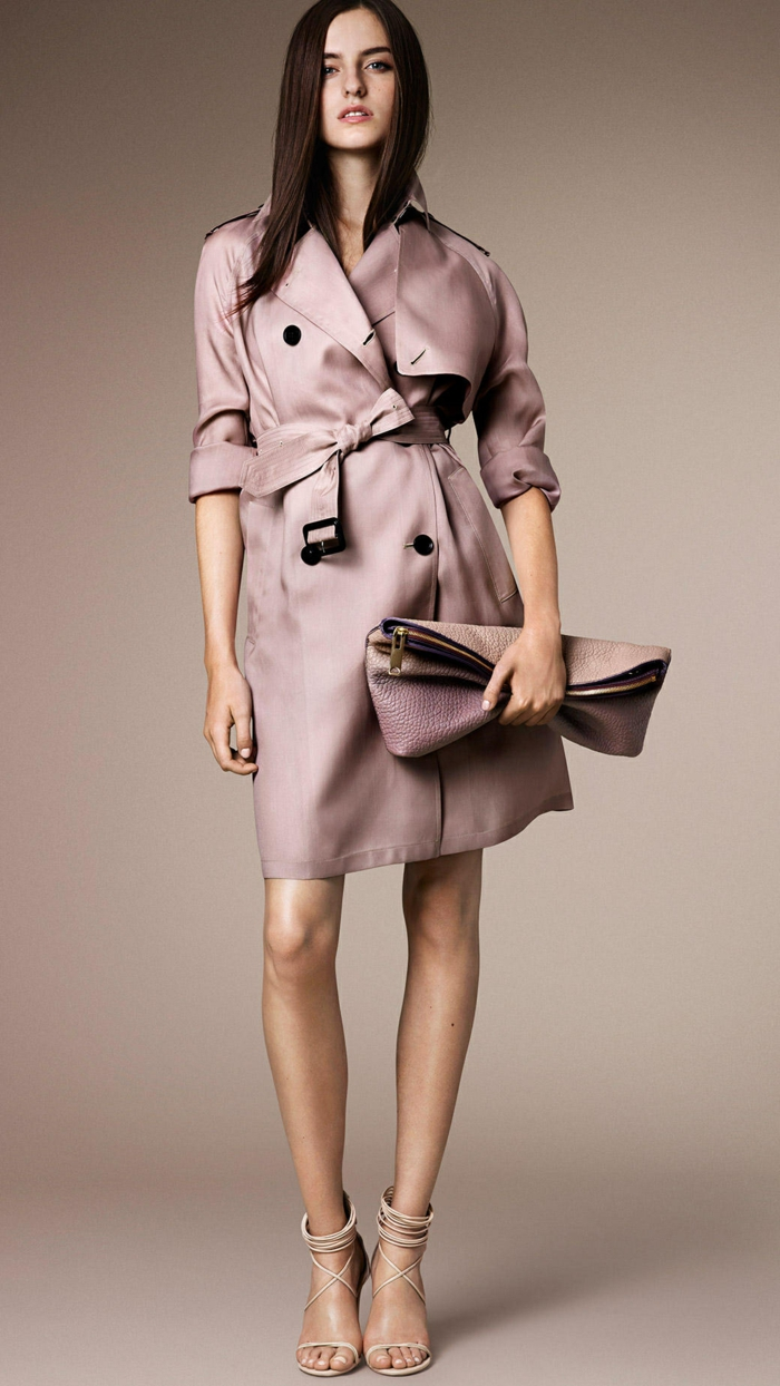 u trench coat en soie