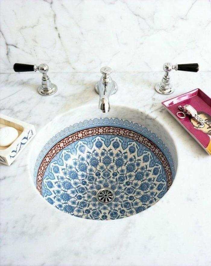 magnifique vasque peinte