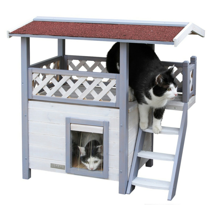 petite maison à chat en bois