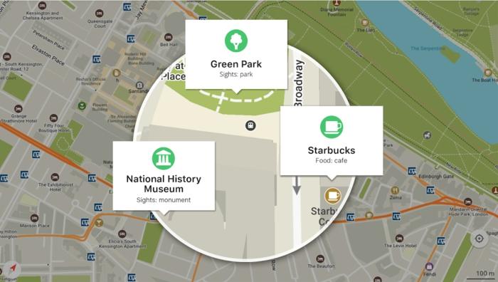 en effet maps me est une application qui peut être utilisée même sans connexion net