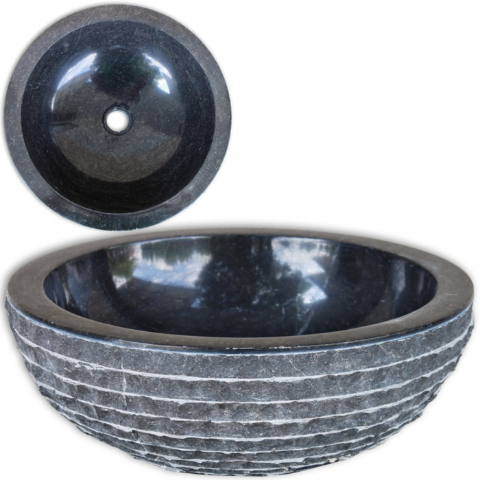lavabo en marbre noir