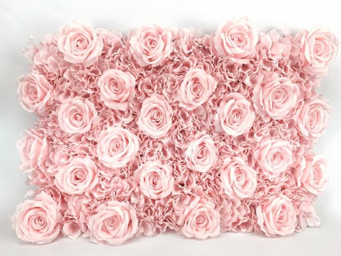 Composition florale mariage en papier rose